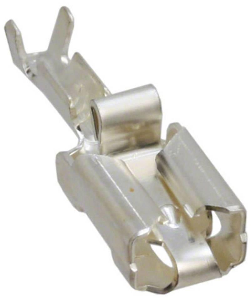 Faston konektor zásuvka TE Connectivity 160773-1 odolný proti vibráciám, 6.35 mm x 0.81 mm, 180 °, neizolované, strieborná, 1 ks