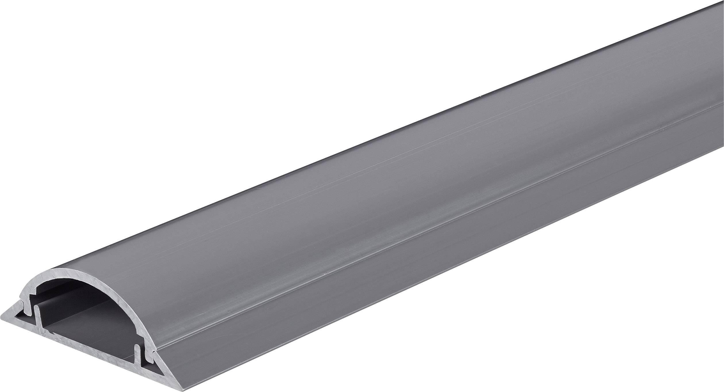 Kabelový můstek Conrad 1243959, šedá, 1000 x 49,5 mm