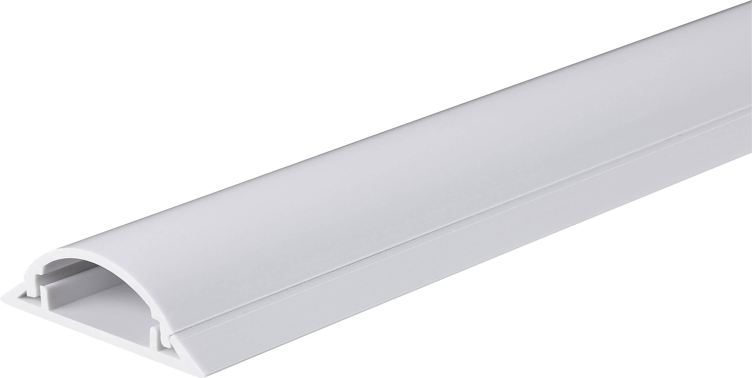 Káblový mostík Conrad Components 1243961 (d x š) 1000 mm x 49.5 mm, biela, 1 ks
