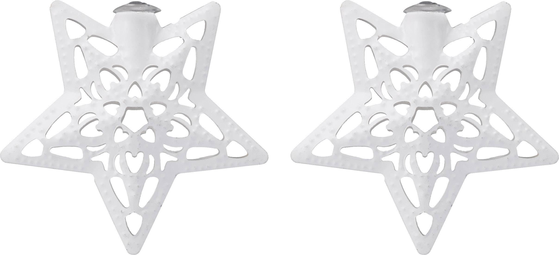 Dekoratívne nástavec na reťaz Polarlite DIY-02-002, 8 LED, hviezda, biela
