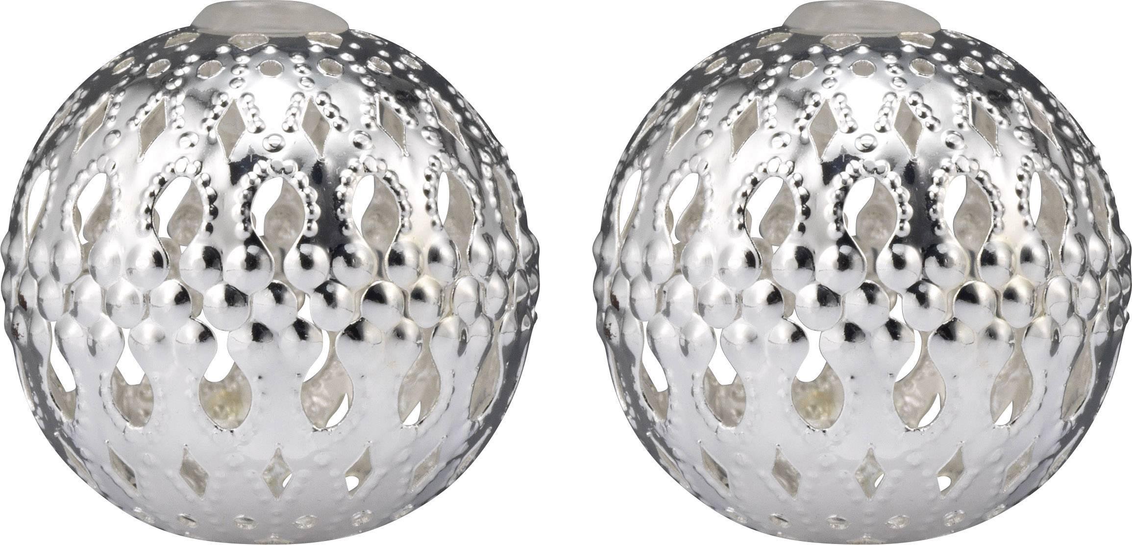 Dekoratívne nástavec na reťaz Polarlite DIY-02-005, 8 LED, guľôčky, strieborná
