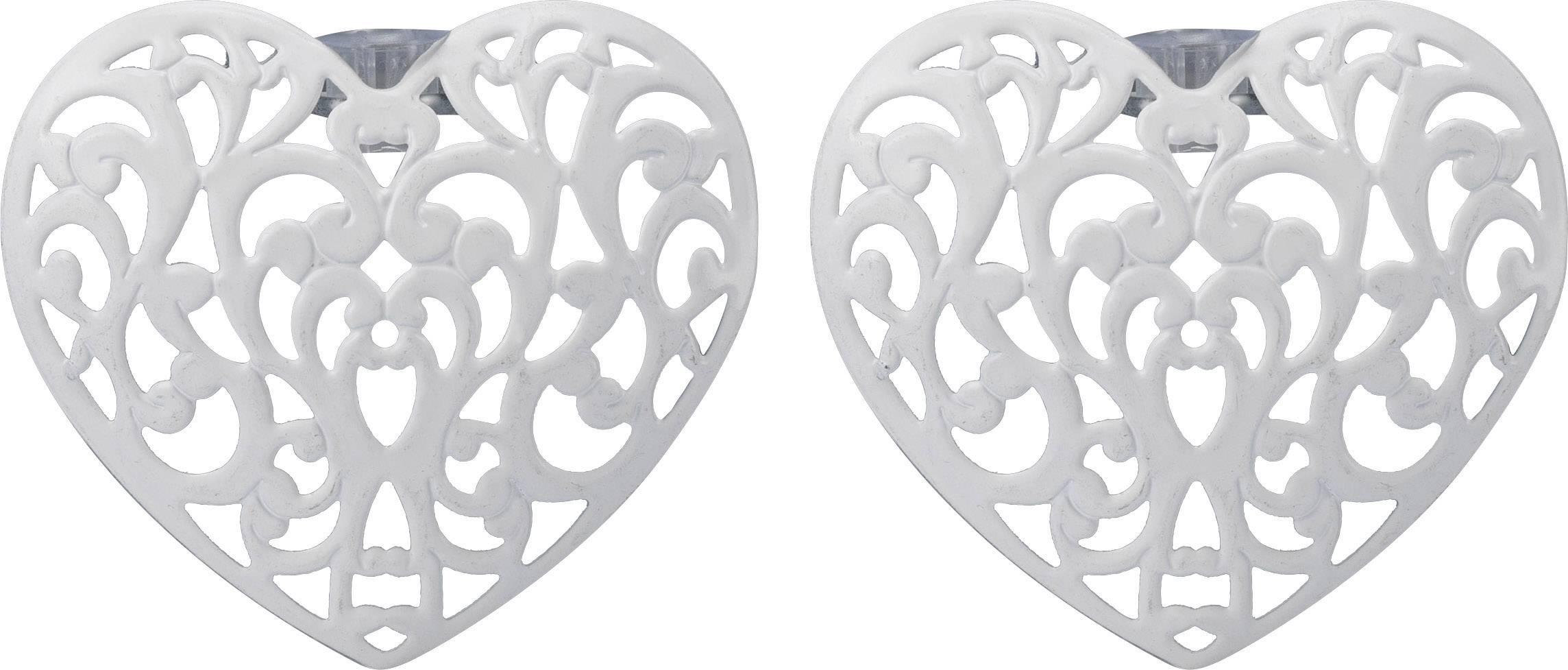Dekoratívne nástavec na reťaz Polarlite DIY-02-004, 8 LED, srdce, biela