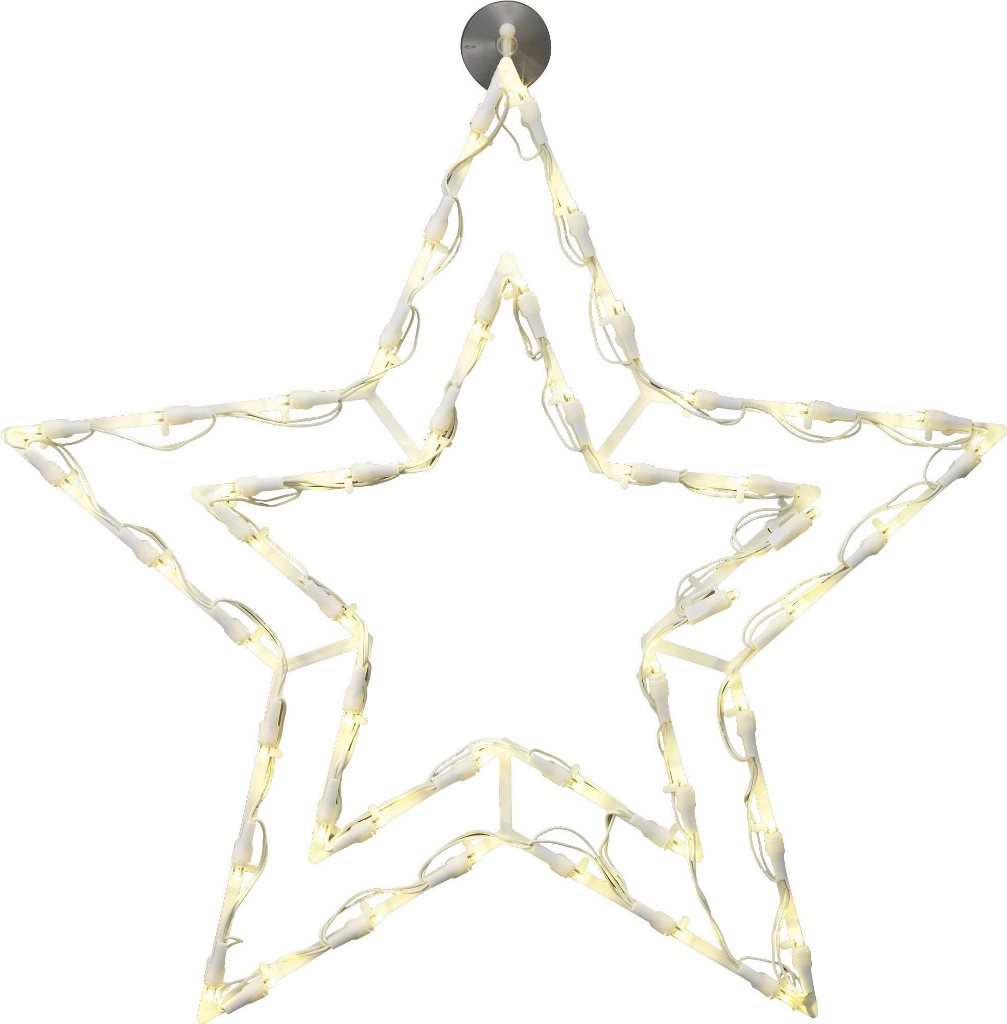 LED osvetlenie do okna Polarlite LDE-02-008, do siete, veľká hviezda