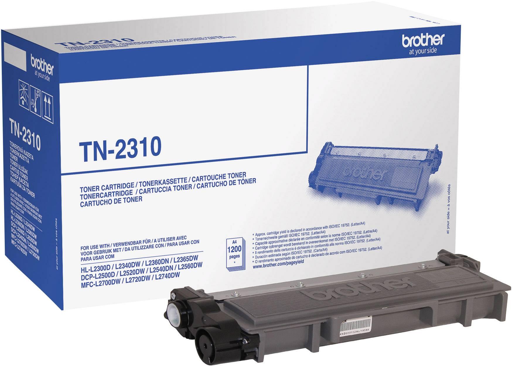 Toner originál Brother TN-2310 černá Maximální rozsah stárnek 1200 Seiten