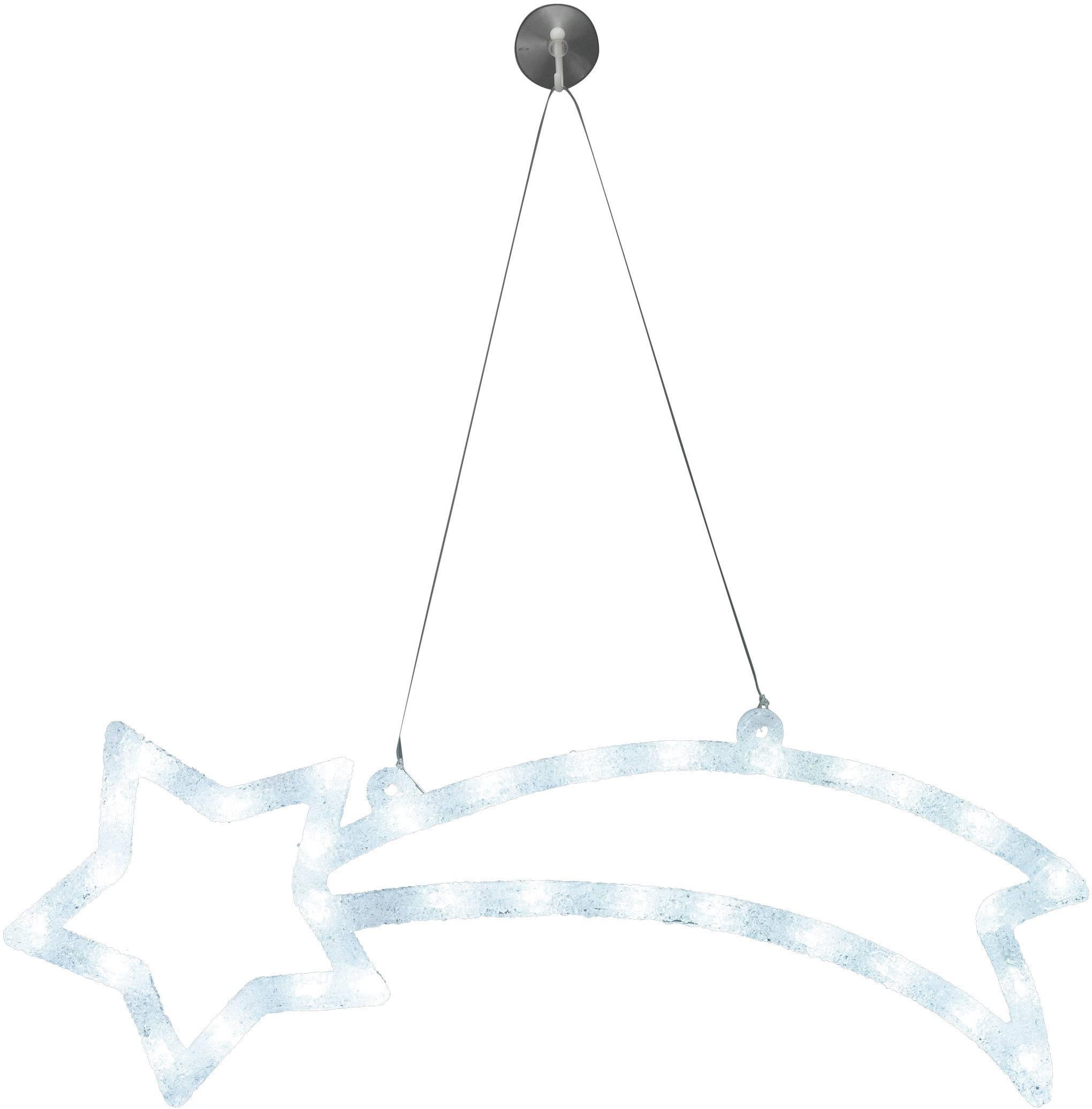 LED osvetlenie do okna Polarlite LDE-02-009, do siete, betlehemská hviezda