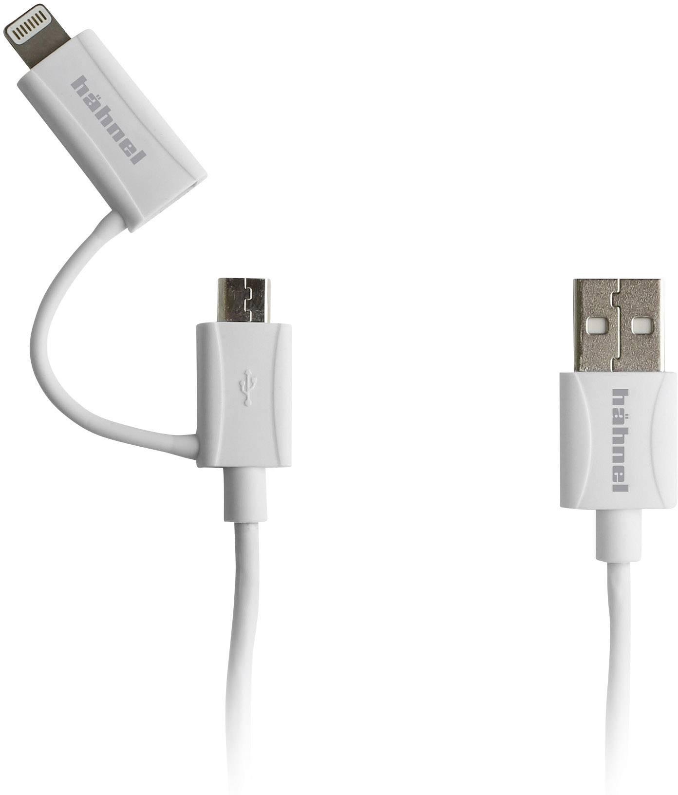 Kabel USB ⇔ microUSB/Apple Lightning Hähnel 2 v 1
