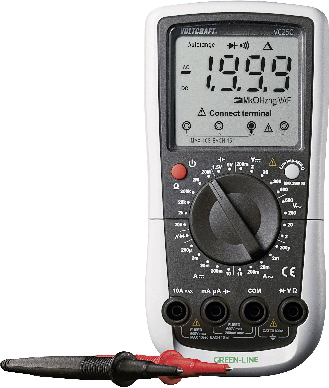 Digitálne/y ručný multimeter VOLTCRAFT VC250, kalibrácia podľa ISO
