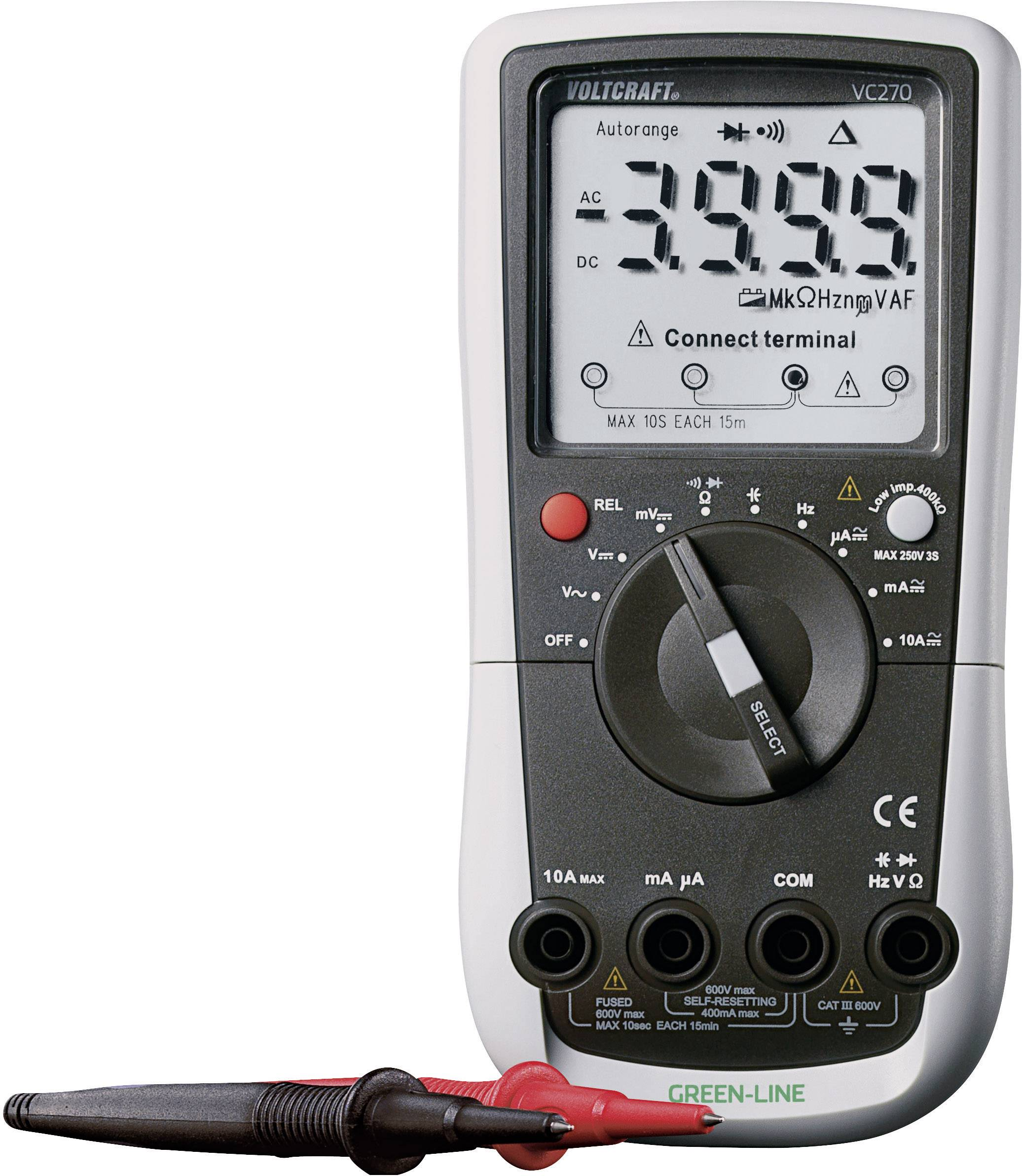 Digitálne/y ručný multimeter VOLTCRAFT VC270, kalibrácia podľa ISO