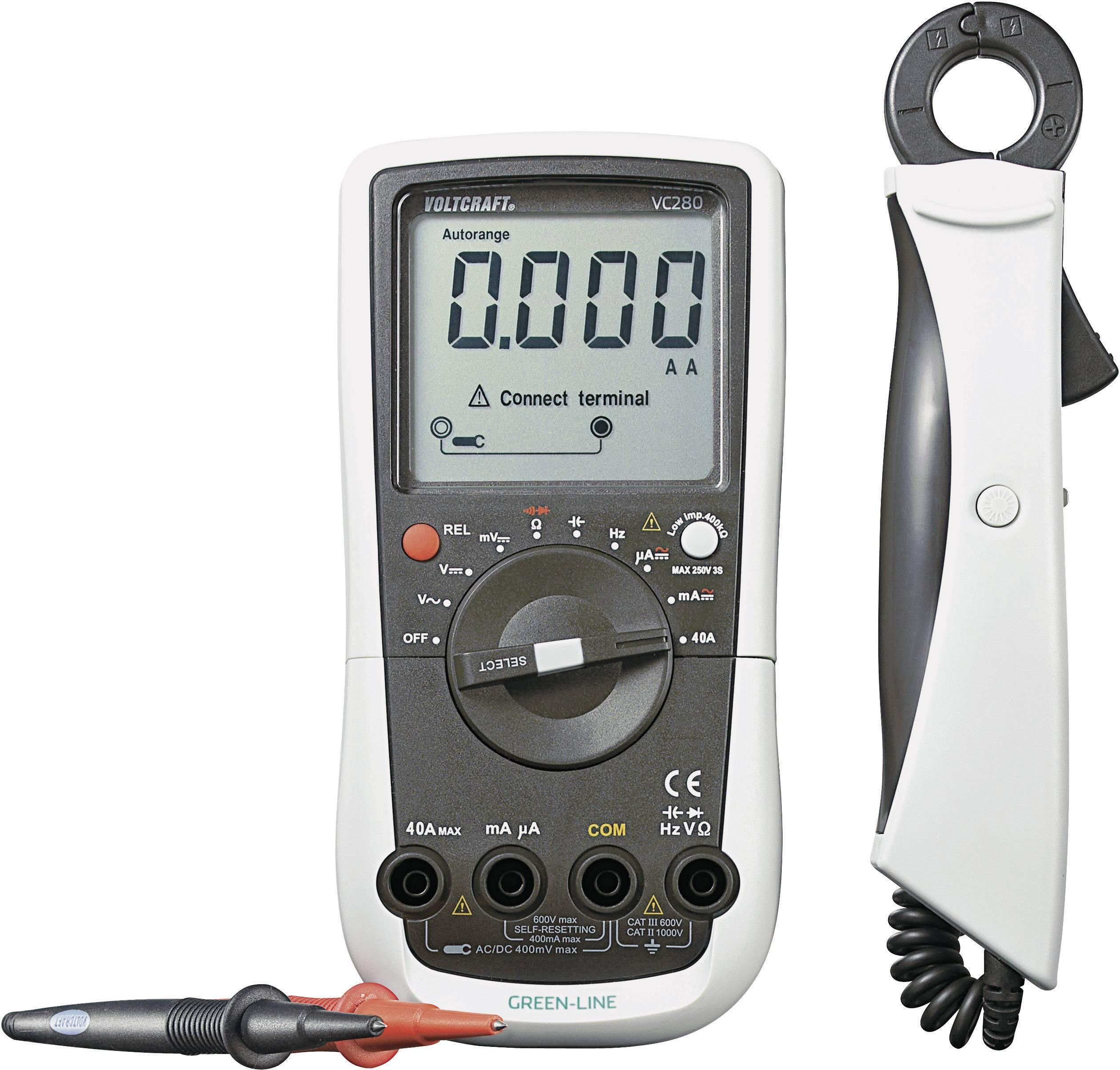Digitálne/y ručný multimeter, prúdové kliešte VOLTCRAFT VC280 VC280