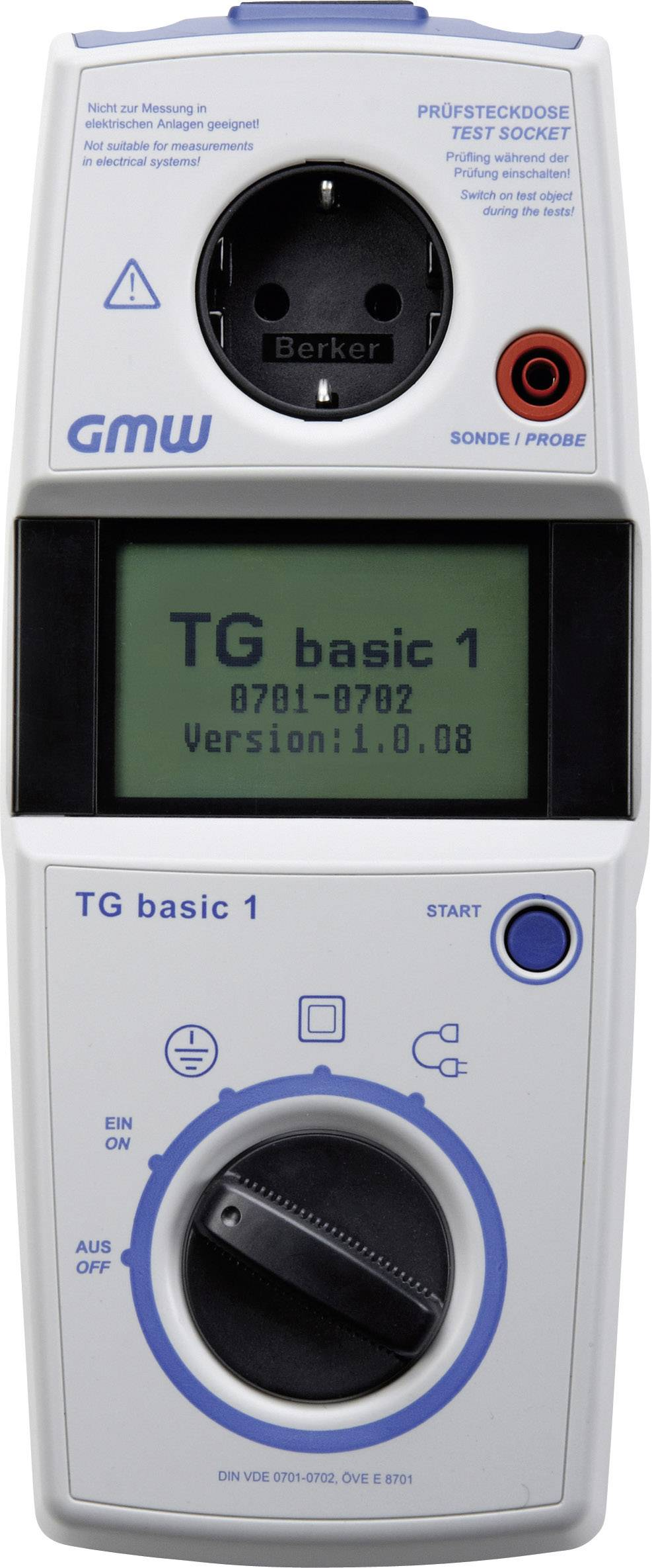 VDE tester GMW TG basic 1 BL, 63000 0001