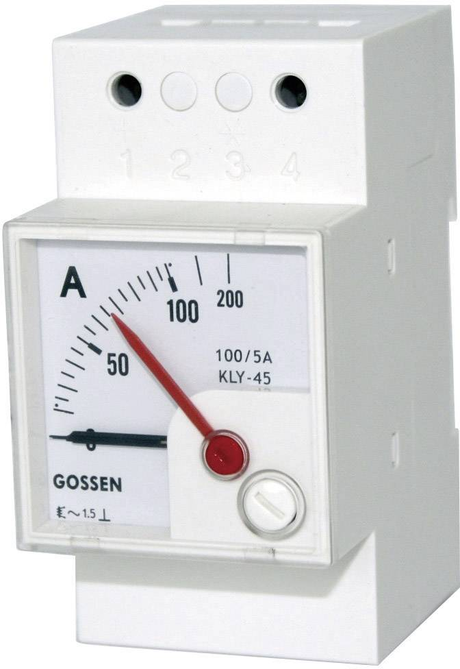 Elektromagnetický merací prístroj na DIN lištu GMW EQB 45H, 5/10 A