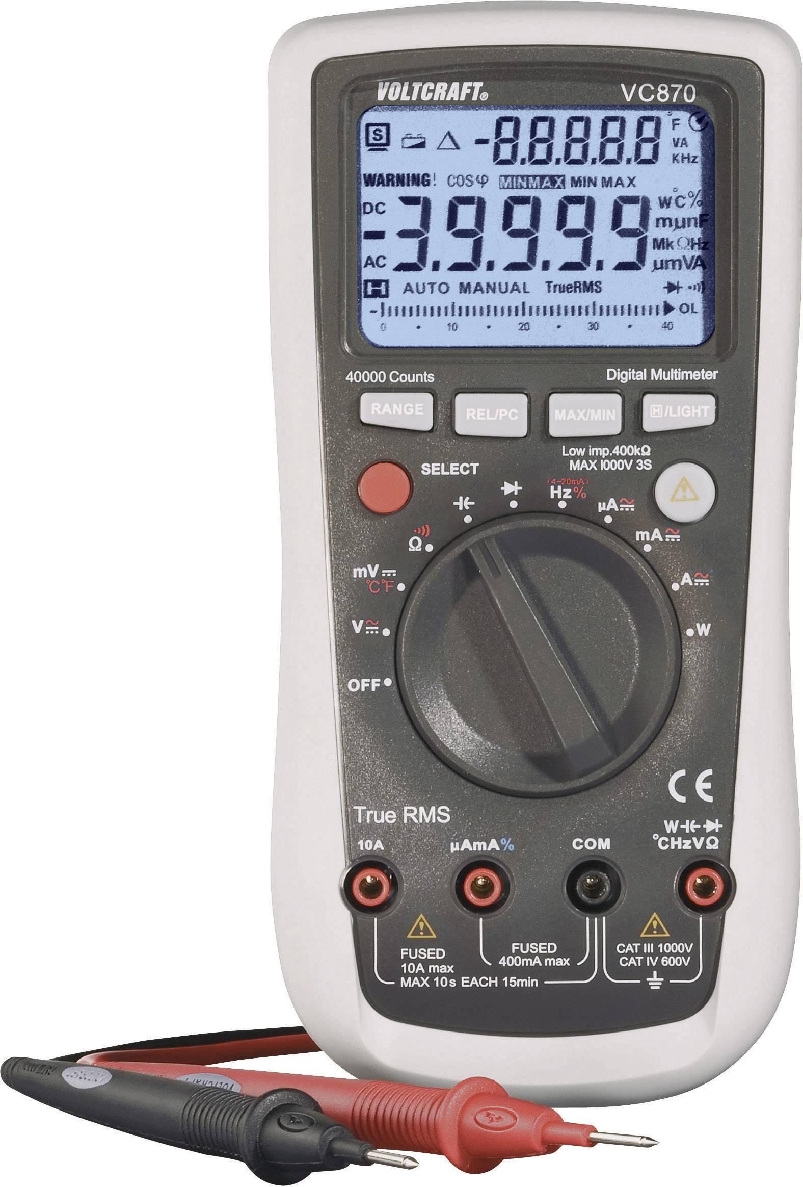 Digitálne/y ručný multimeter VOLTCRAFT VC870 VC870