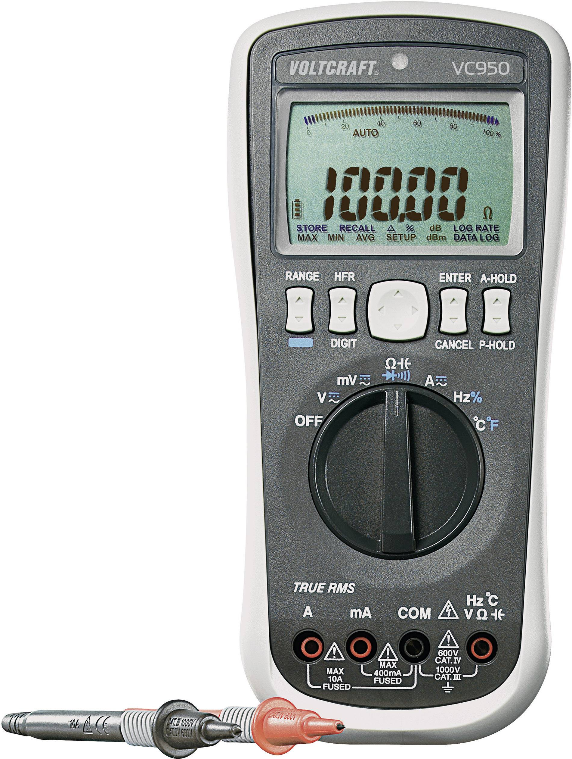 Digitálne/y ručný multimeter VOLTCRAFT VC950 (ISO), kalibrácia podľa ISO, datalogger