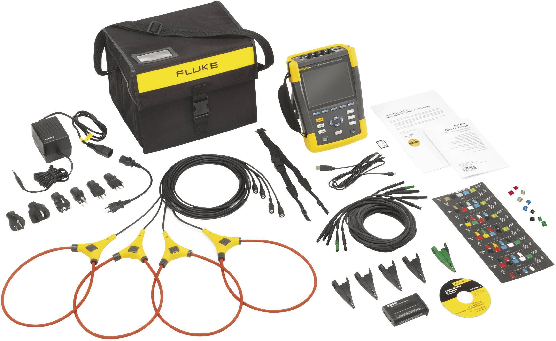 Síťový analyzátor Fluke 434-II 4116638, CAT IV 600 V / CAT III 1000 VKalibrováno dle ISO