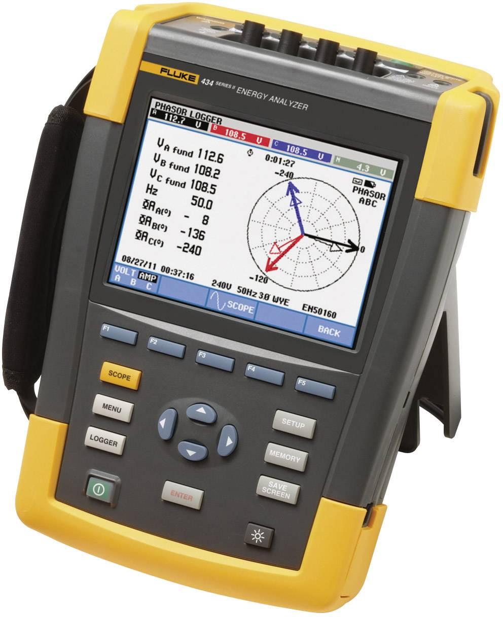 Síťový analyzátor Fluke 434-II/BASIC 4116650, CAT IV 600 V / CAT III 1000 VKalibrováno dle ISO
