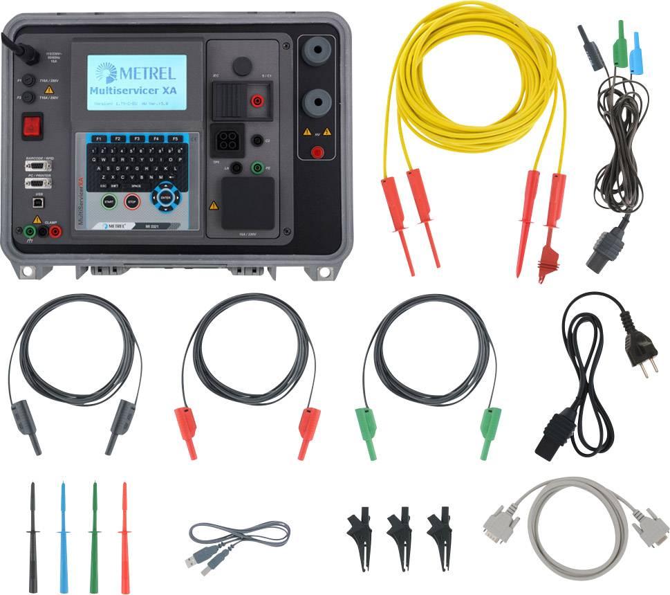 Tester pro pracovní stroje a rozvaděče Metrel MI 3321, Kalibrováno dle ISO