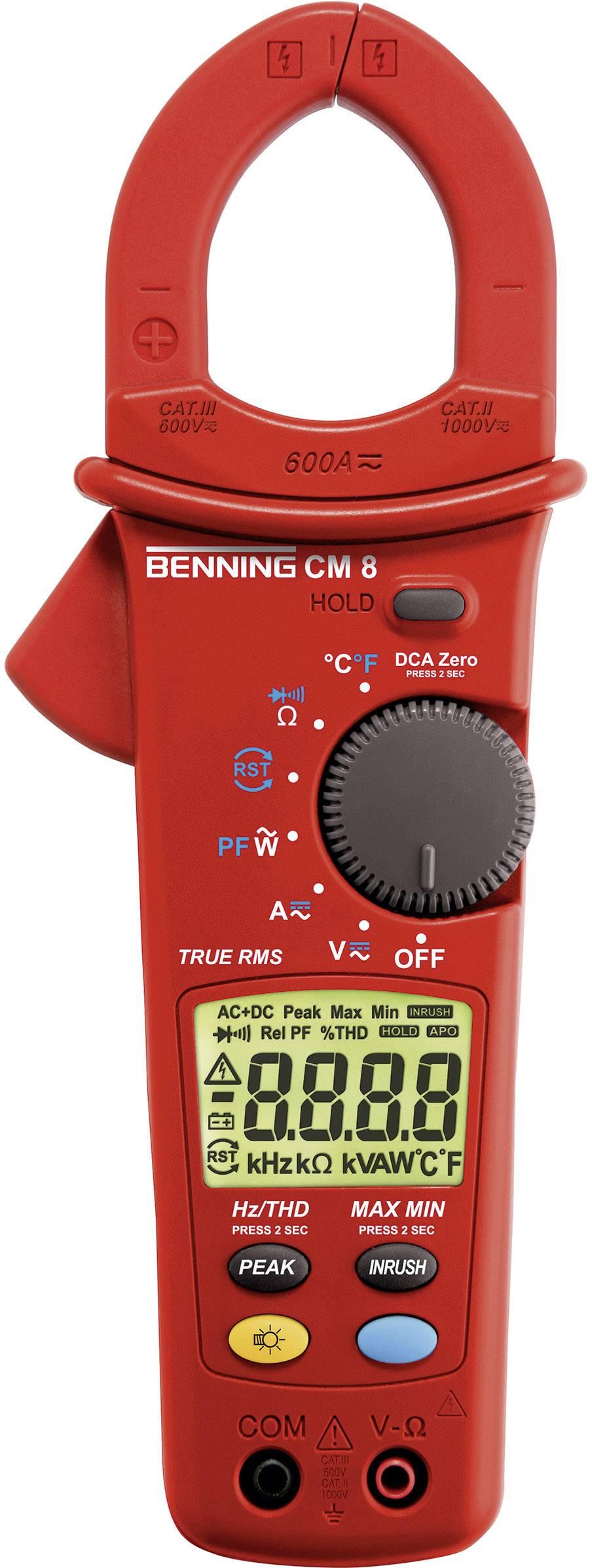 Digitální proudové kleště, multimetr Benning CM 8, Kalibrováno dle ISO