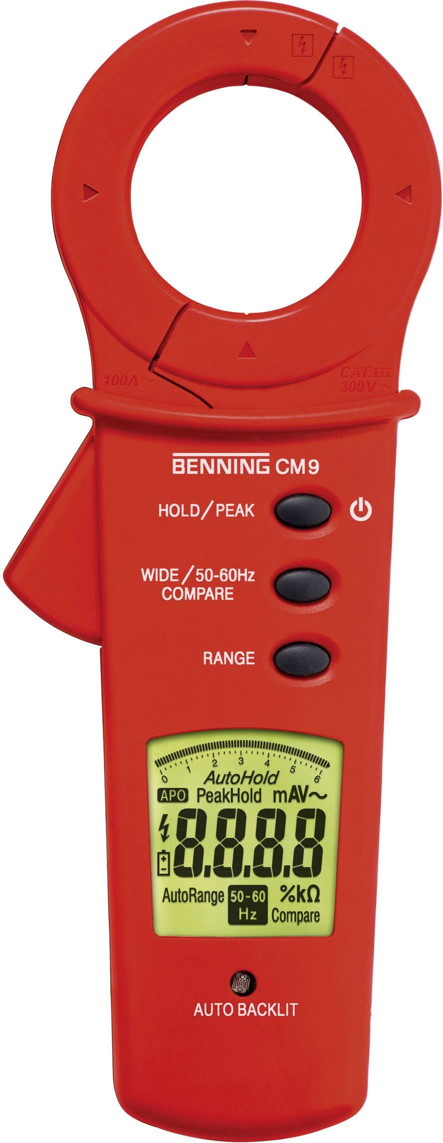 Digitální proudové kleště, multimetr Benning CM 9, Kalibrováno dle ISO