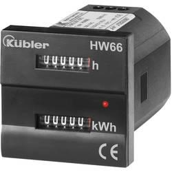 Jednofázový elektromer mechanické Kübler HW66 230 VAC 3.563.201.075, 16 A