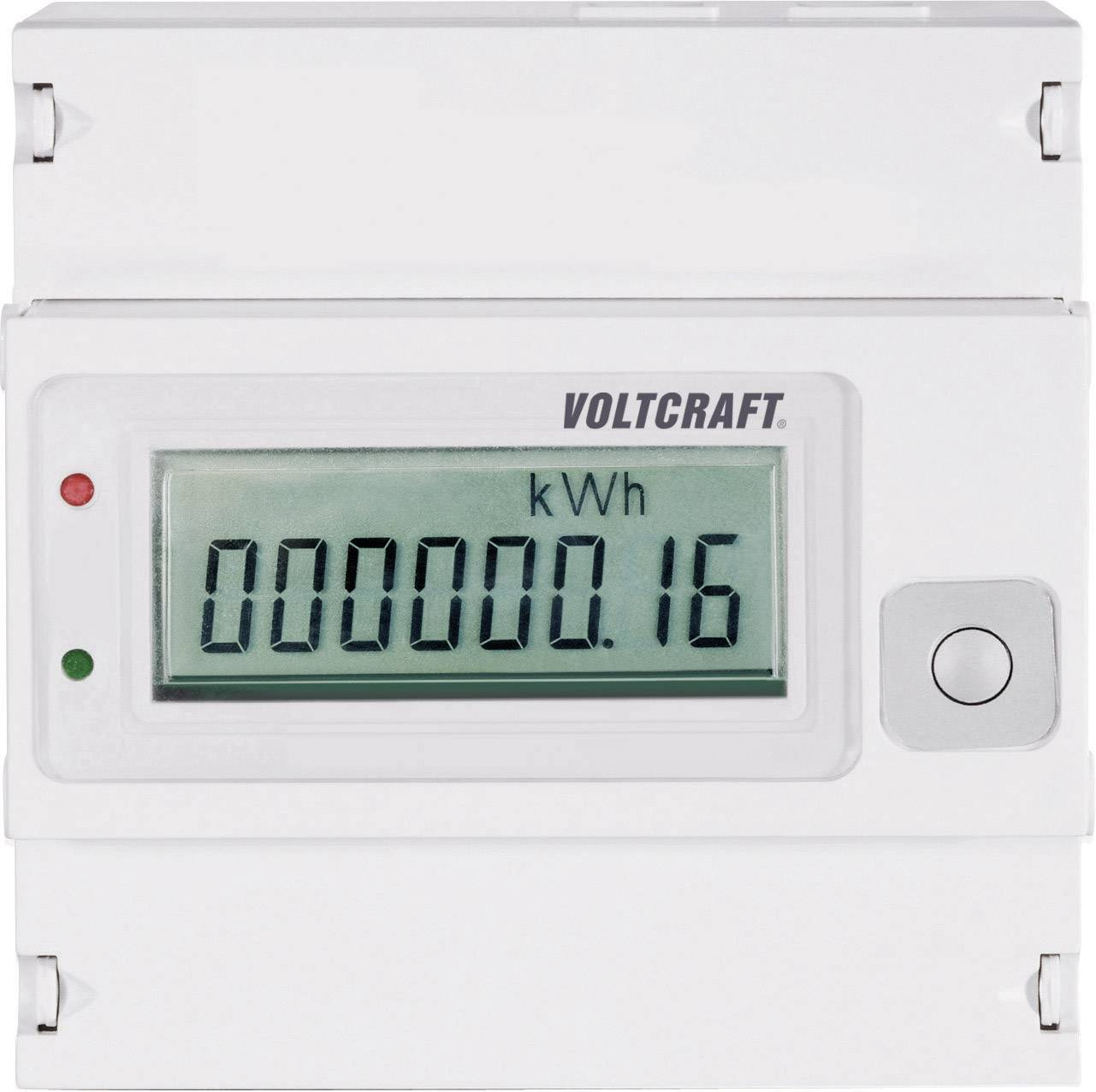 Trojfázový digitálny elektromer Voltcraft VSM-102, na DIN lištu