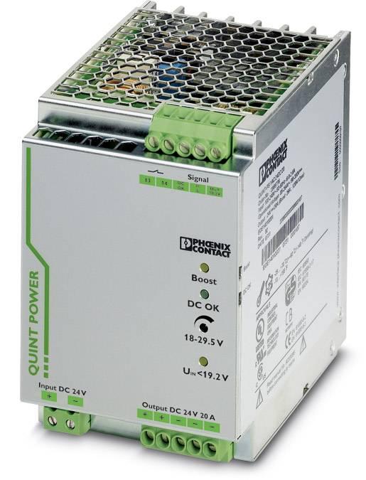 Sieťový zdroj na montážnu lištu (DIN lištu) Phoenix Contact QUINT-PS/24DC/24DC/20 24 V/DC 20 A 1 x