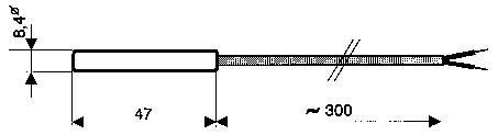 Teplotné čidlo Greisinger GMF 30/180 V4A, -50 až +175 °C