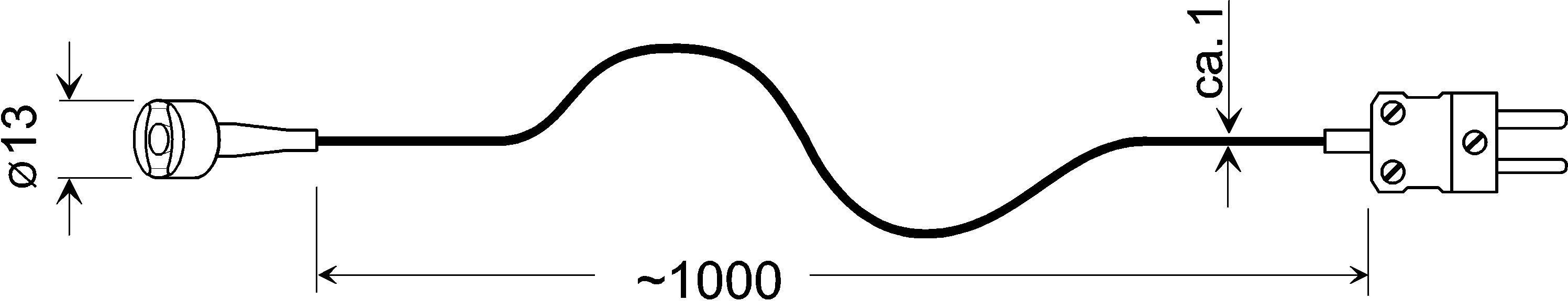 Teplotné čidlo Greisinger GMF 250, typ K, -65 až +250 °C