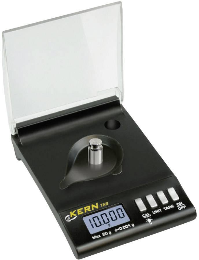 Vrecková váha Kern presnosť 0.001 g, čierna