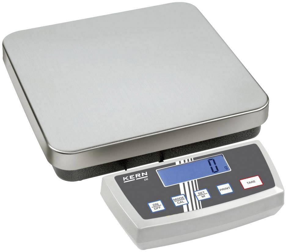Plošinová váha Kern DE 12K1A, max.váživosť 12 kg, strieborná