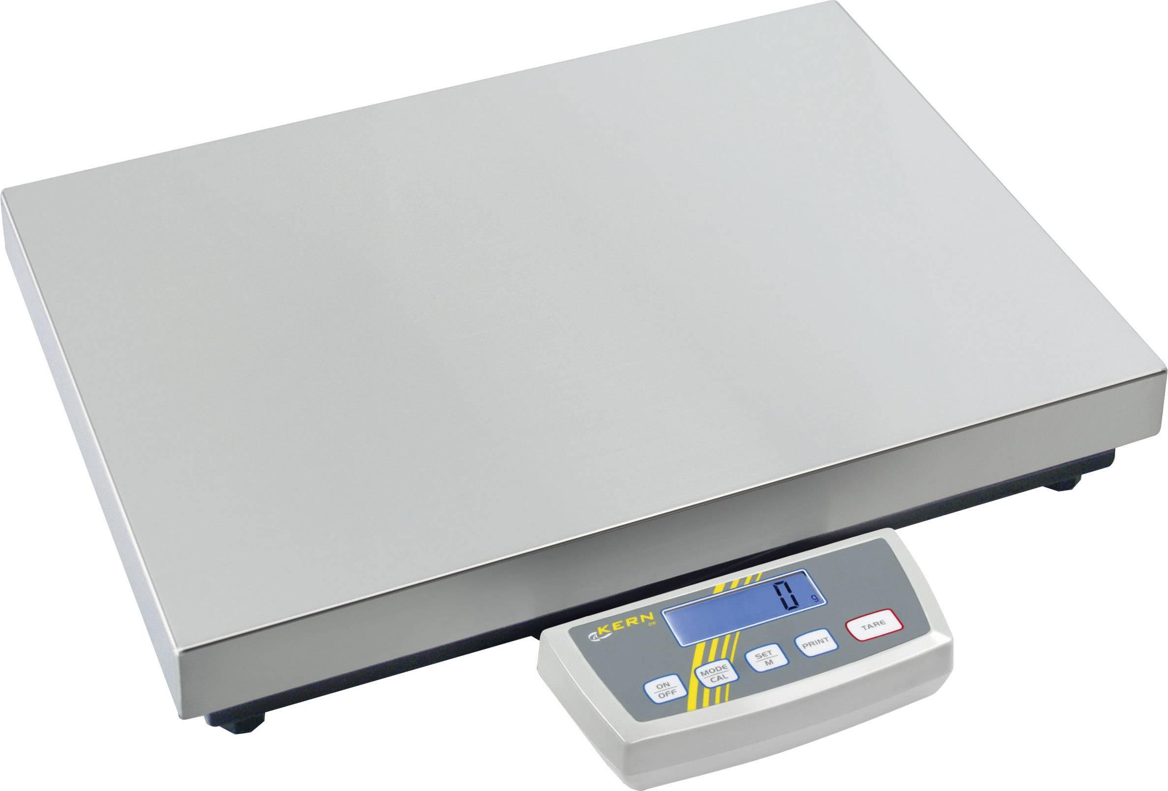 Plošinová váha Kern DE 300K5DL, max.váživosť 300 kg, strieborná