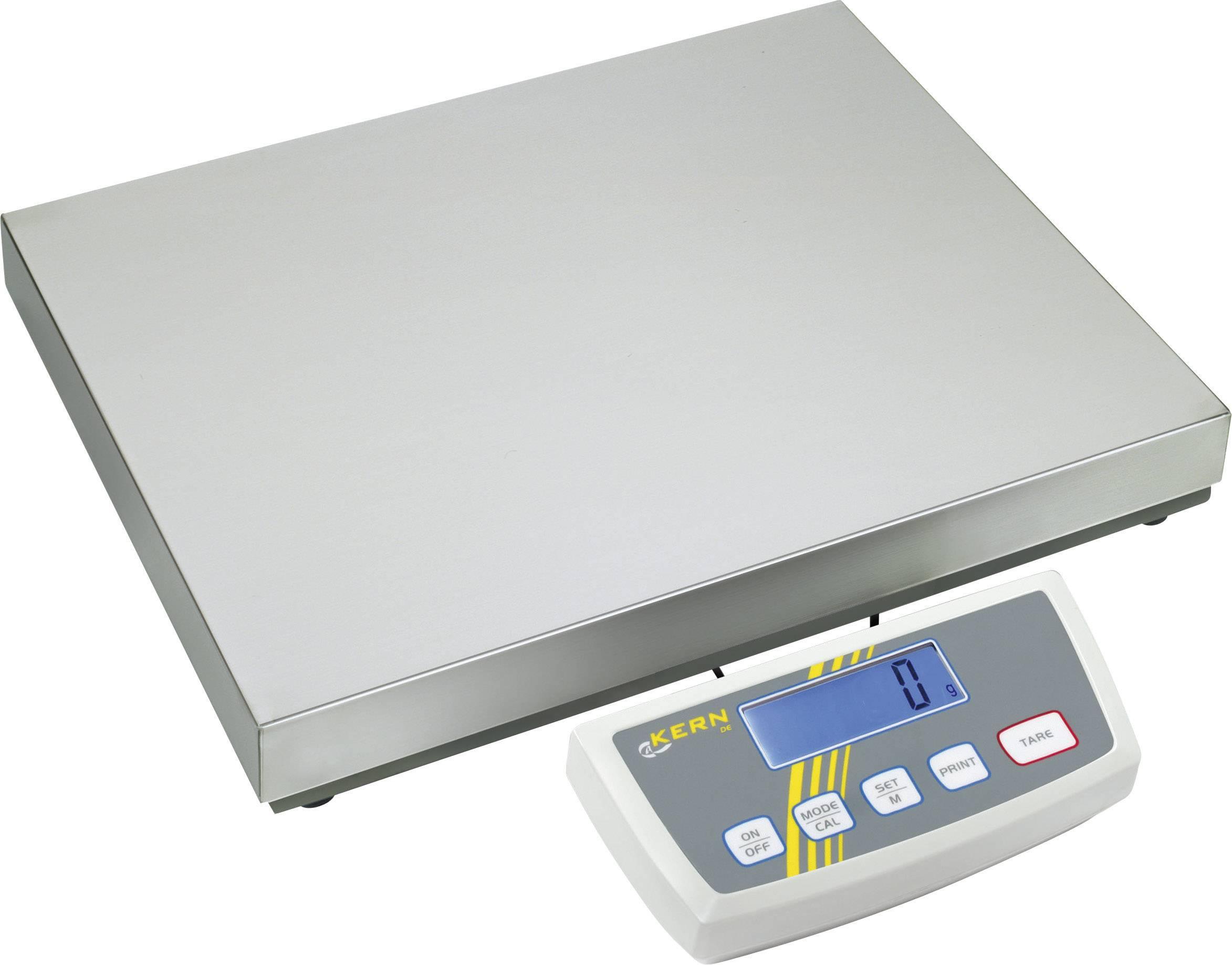 Plošinová váha Kern DE 35K5DL, max.váživosť 35 kg, strieborná