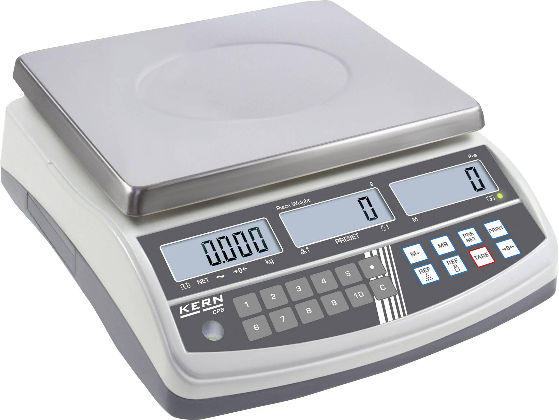 Počítacia váha Kern Max.váživosť 15 kg, Presnosť 0.2 g, strieborná