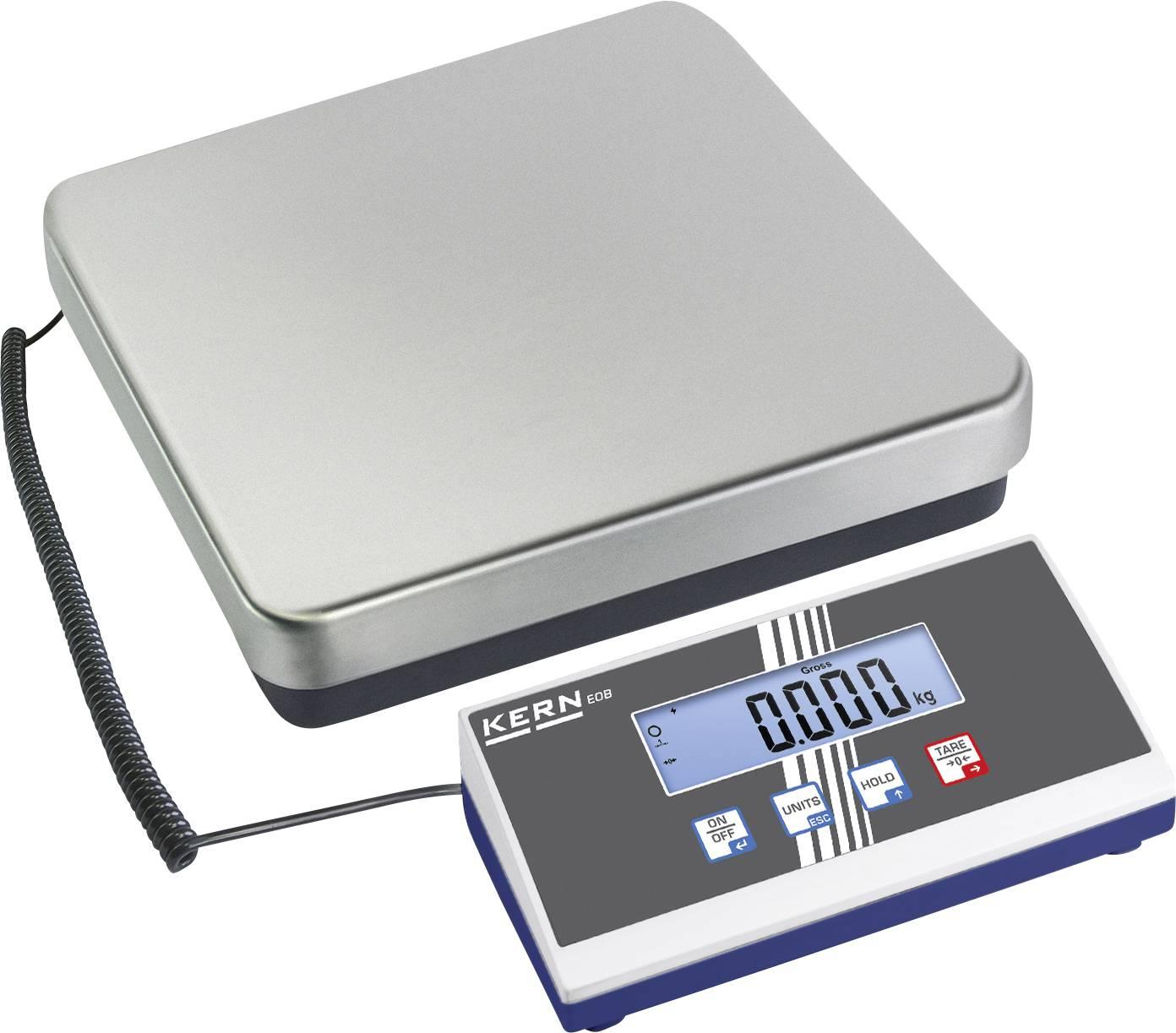 Poštovní váha Kern Max. váživost 60 kg Rozlišení 20 g 230 V, na baterii stříbrná