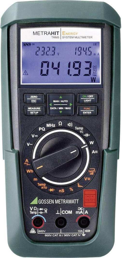 Digitálne/y ručný multimeter Gossen Metrawatt METRAHIT Energy M249A, kalibrácia podľa DAkkS