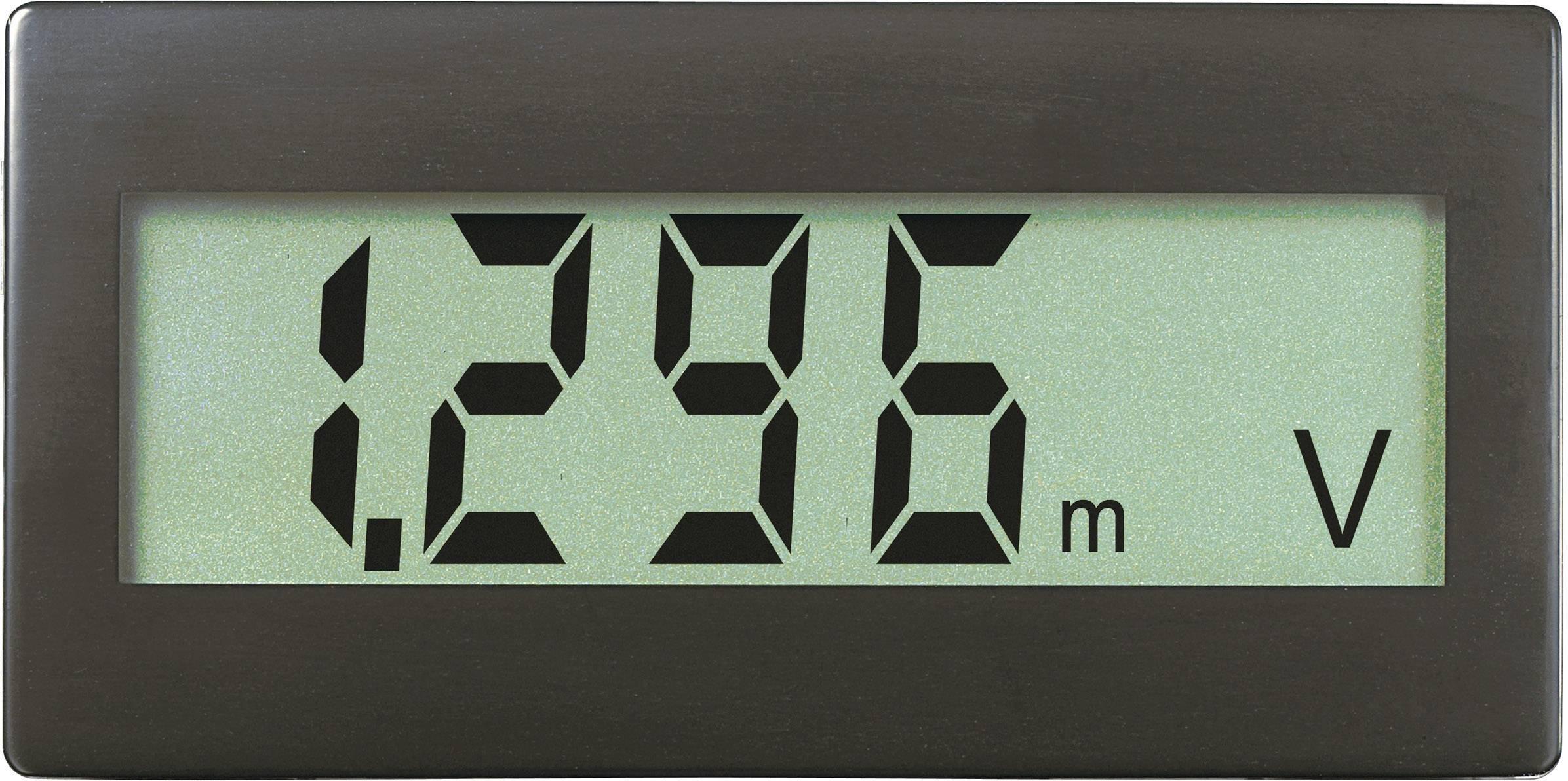 Panelové měřidlo Voltcraft DVM-330, 68 x 33 mm, ±199,9 mV