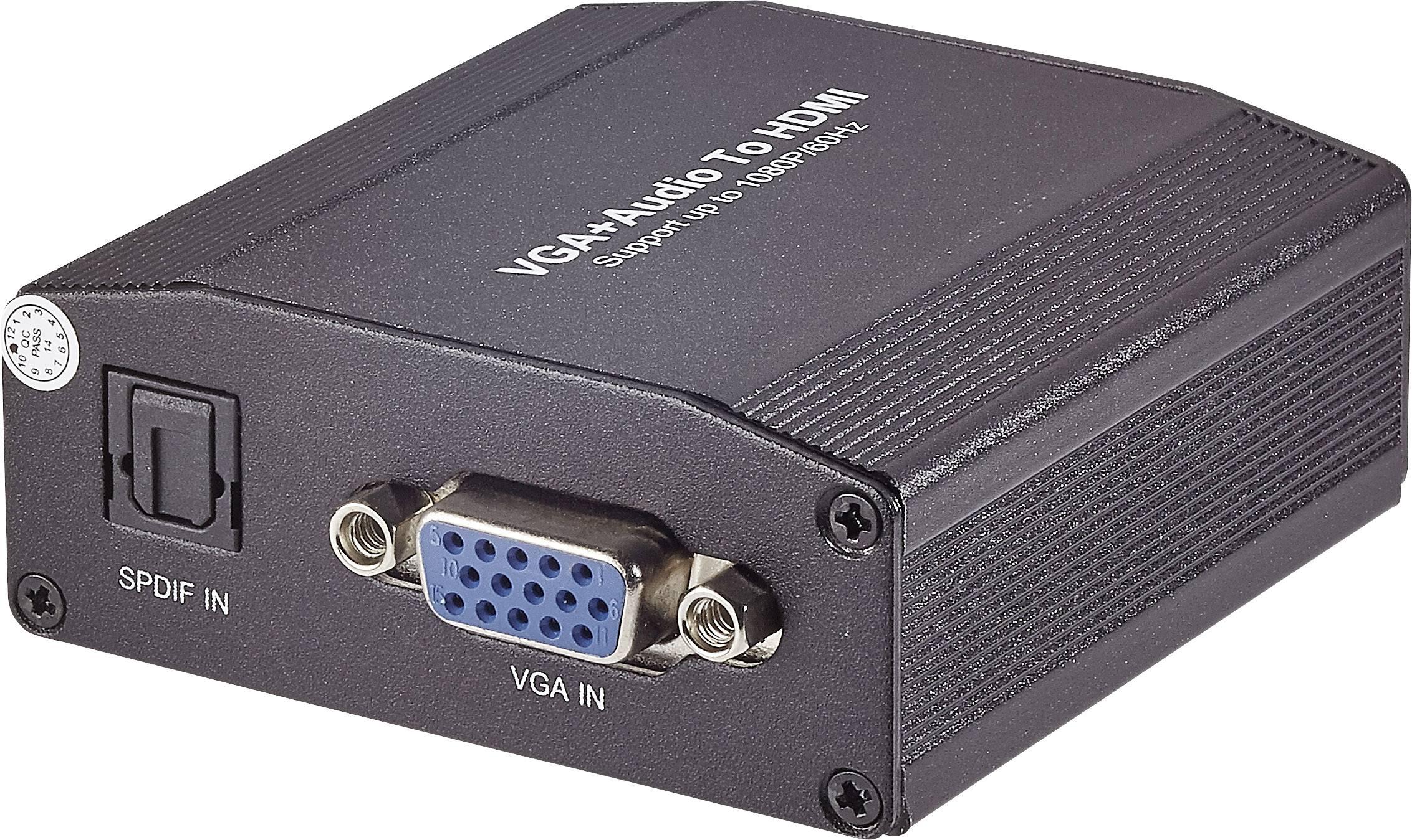 AV konvertor Toslink zásuvka (ODT), VGA zásuvka, jack zásuvka 3,5 mm ⇒ HDMI zásuvka SpeaKa Professional SP-5070436