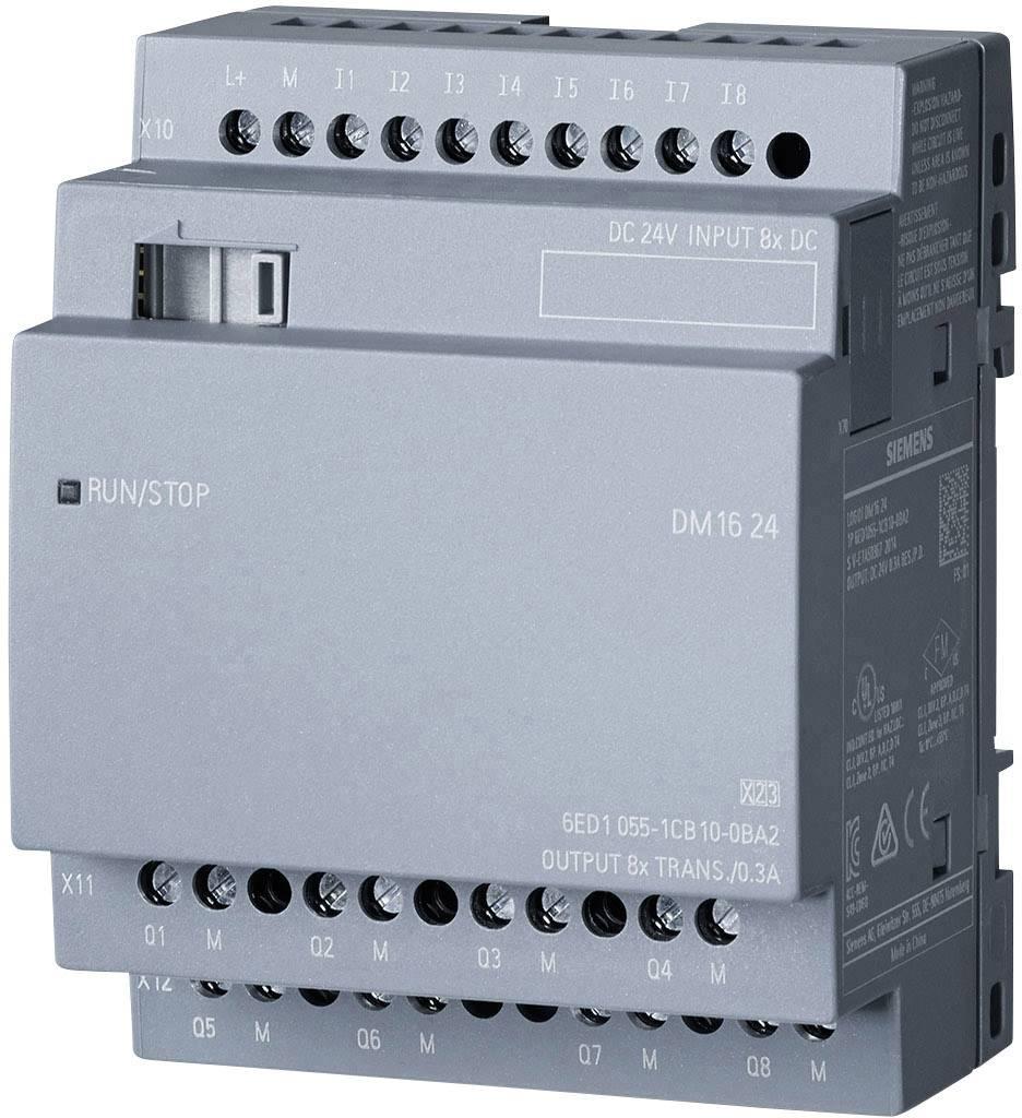 PLC rozšiřující modul Siemens LOGO! DM16 24 0BA2 6ED1055-1CB10-0BA2, 24 V/DC