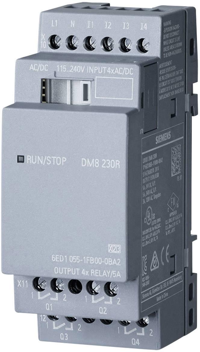 Rozšiřující modul pro PLC Siemens LOGO! DM8 230R 0BA2 6ED1055-1FB00-0BA2, 115 V/AC, 115 V/DC, 230 V/AC, 230 V/DC