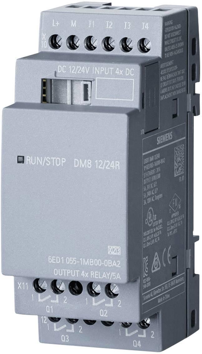 Rozšiřující modul pro PLC Siemens LOGO! DM8 12/24R 0BA2 6ED1055-1MB00-0BA2, 24 V/DC