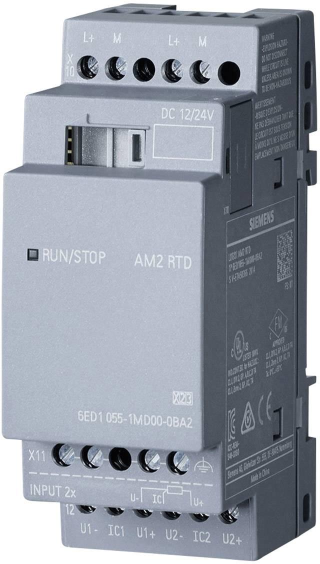 Rozšiřující modul pro PLC Siemens LOGO! AM2 RTD 0BA2 6ED1055-1MD00-0BA2, 12 V/DC, 24 V/DC