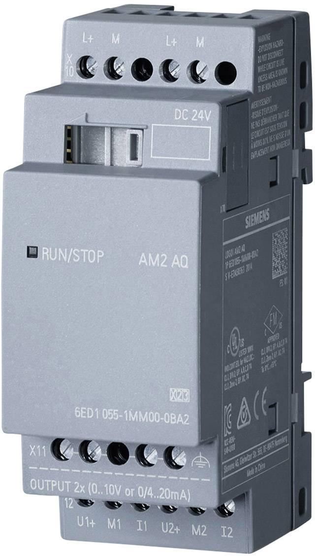 Rozšiřující modul pro PLC Siemens LOGO! AM2 AQ 0BA2 6ED1055-1MM00-0BA2, 24 V/DC