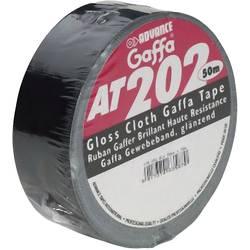 Lepicí páska ADVANCE AT 202 Gaffa černá 50 mm x 50 m.