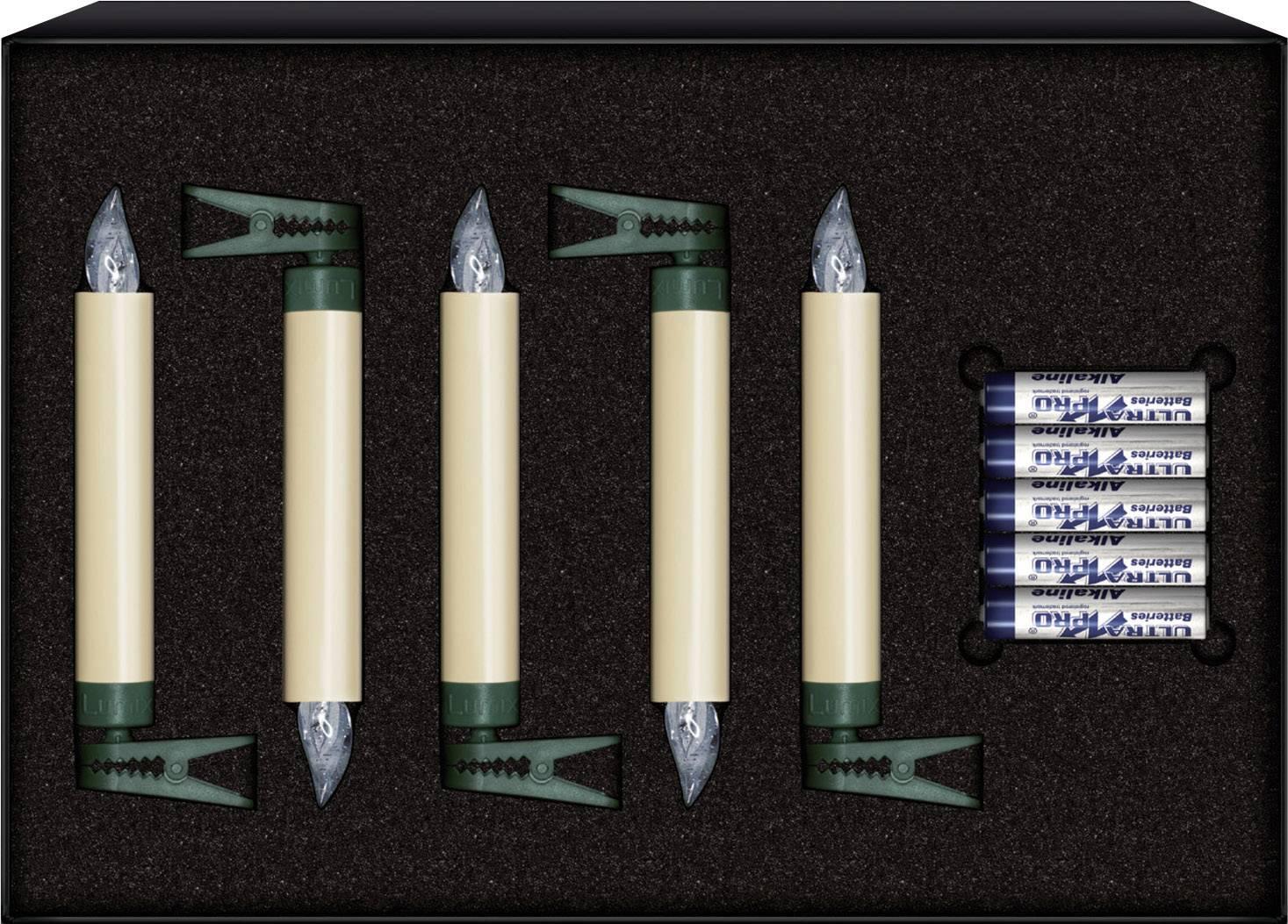 Bezdrôtové vianočné sviečky Krinner 74332 Lumix, 5 LED, teplá biela
