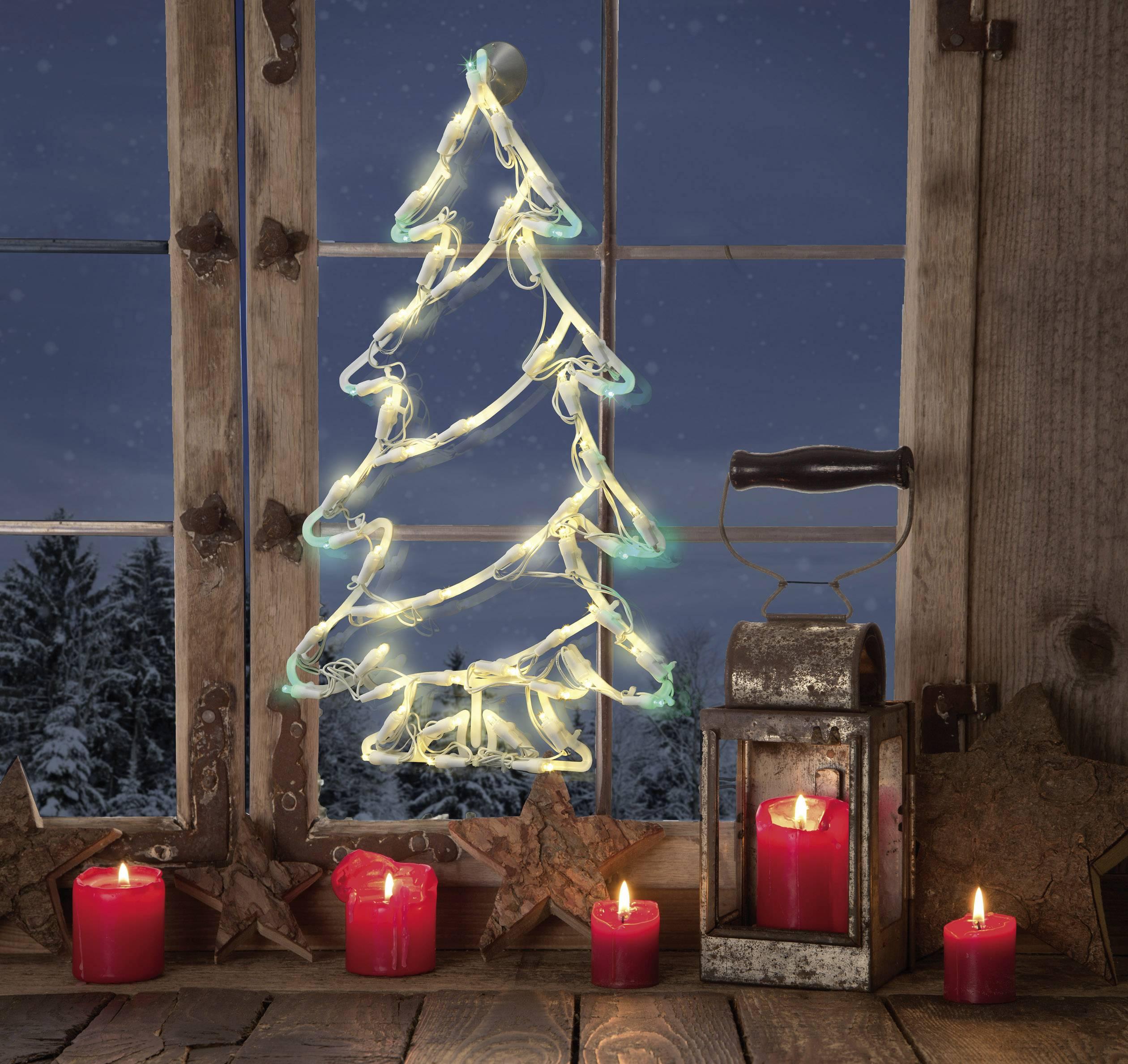LED osvetlenie do okna Polarlite LDE-02-006, do siete, veľký stromček