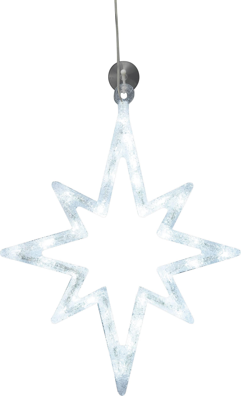 LED osvetlenie do okna Polarlite LDE-02-010, do siete, hviezda