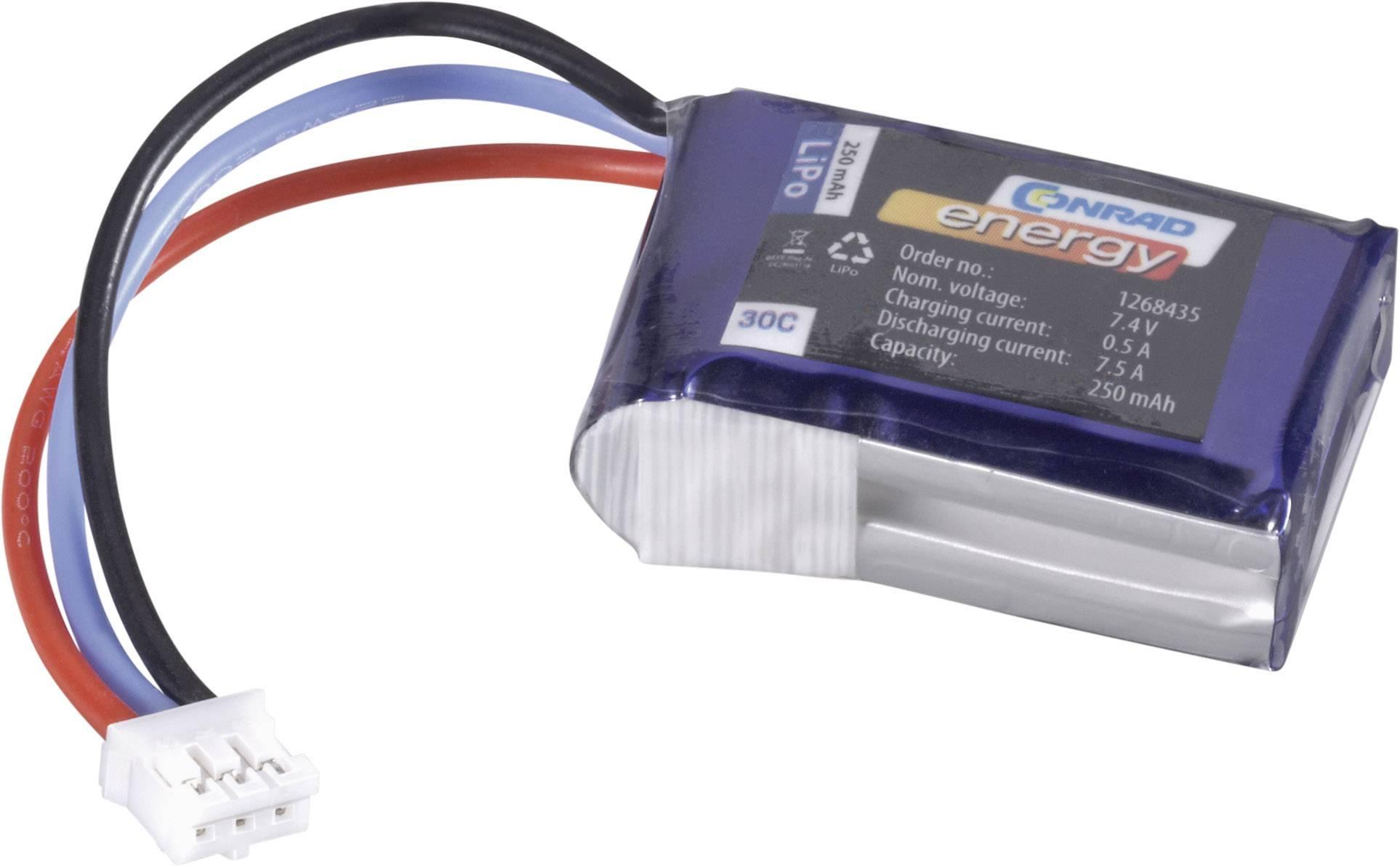 Akumulátor Akupack Li-Pol (modelárstvo) 7.4 V 250 mAh 30 C Conrad energy