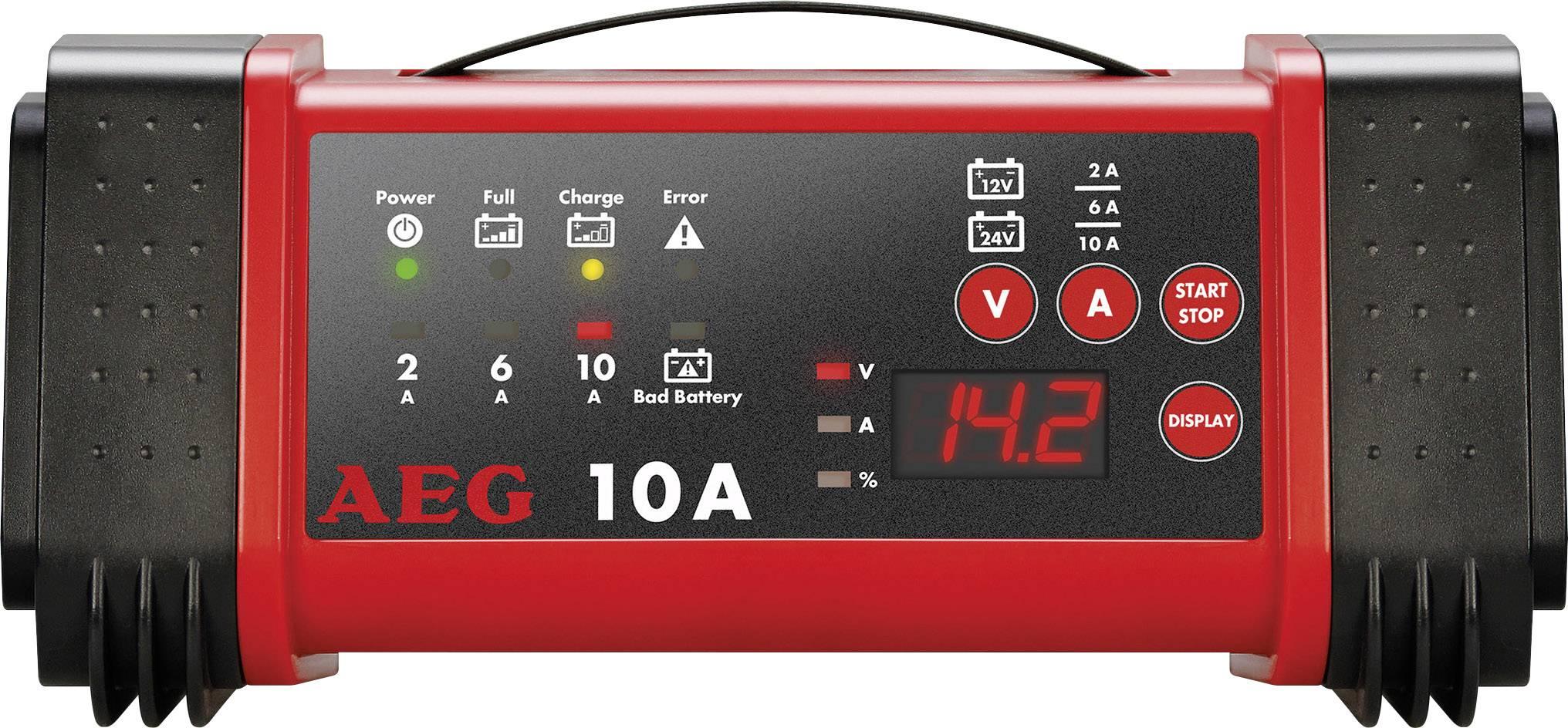 Mikroprocesorová nabíjačka autobatérií AEG LL 10.0, 97019, 2/6/10 A, 12/24 V