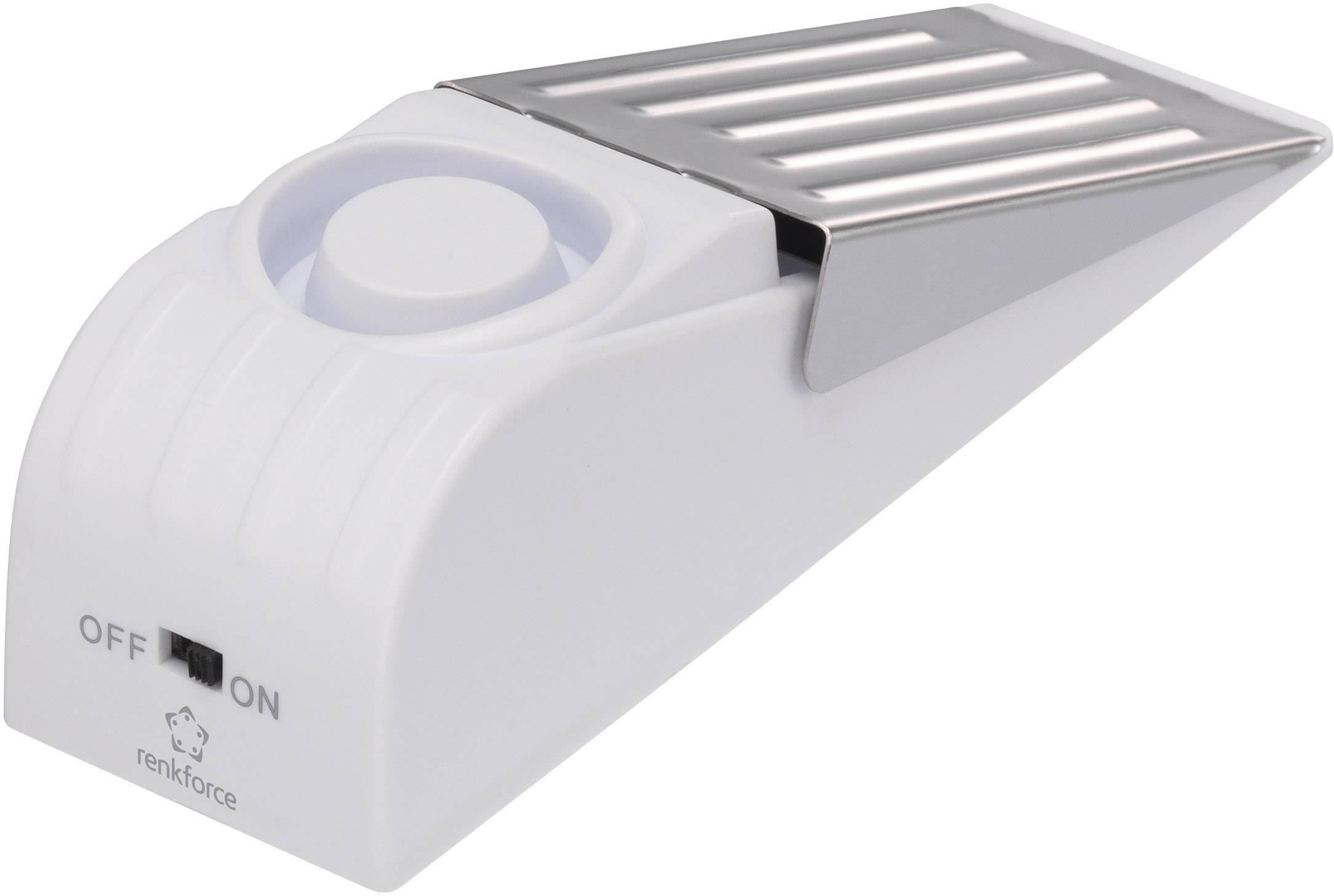 Alarm dveřní zarážka Renkforce 1270197, 85 dB
