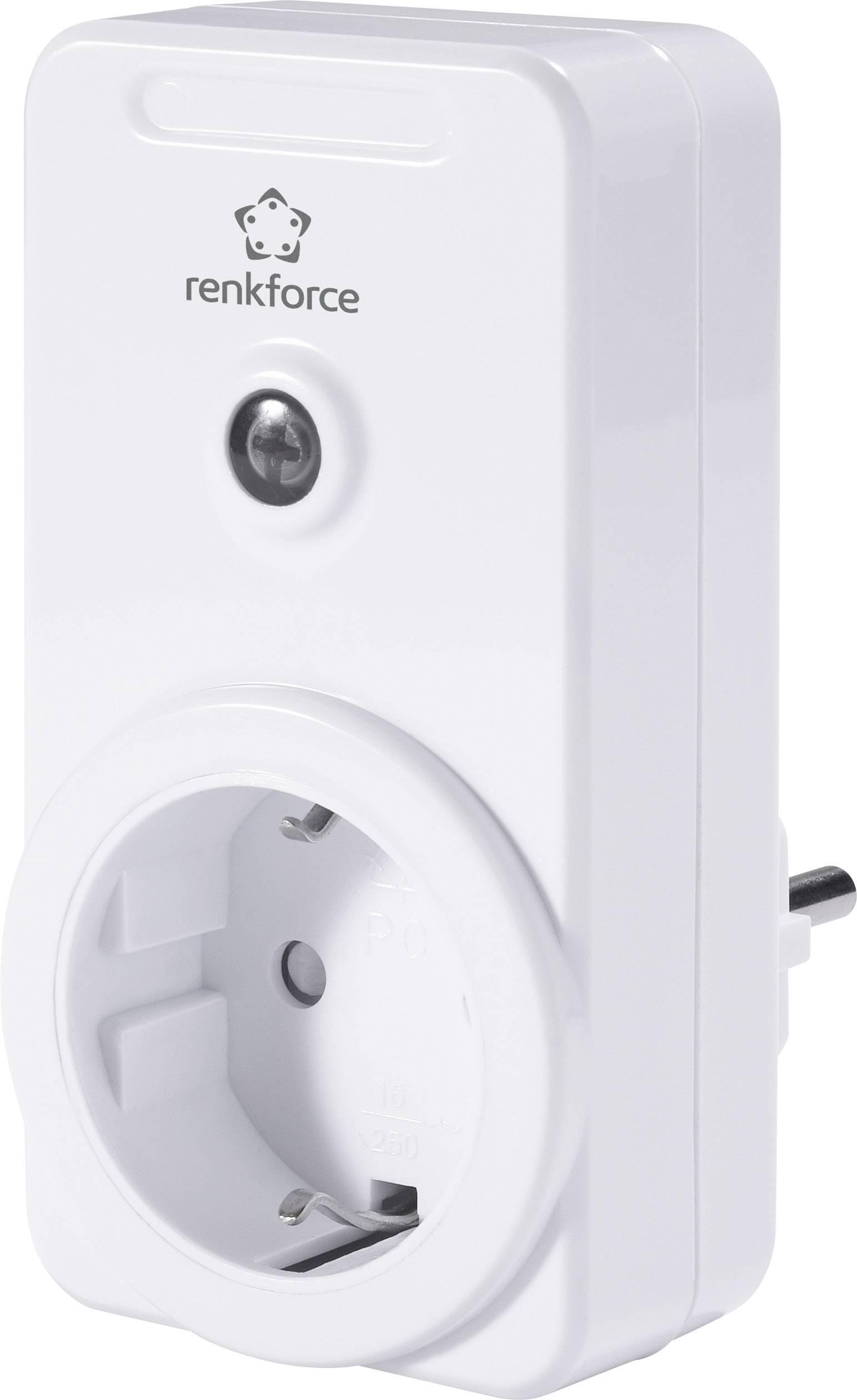 Bezdrôtová spínacia zásuvka do zásuvky Renkforce RS2W, max. dosah 150 m