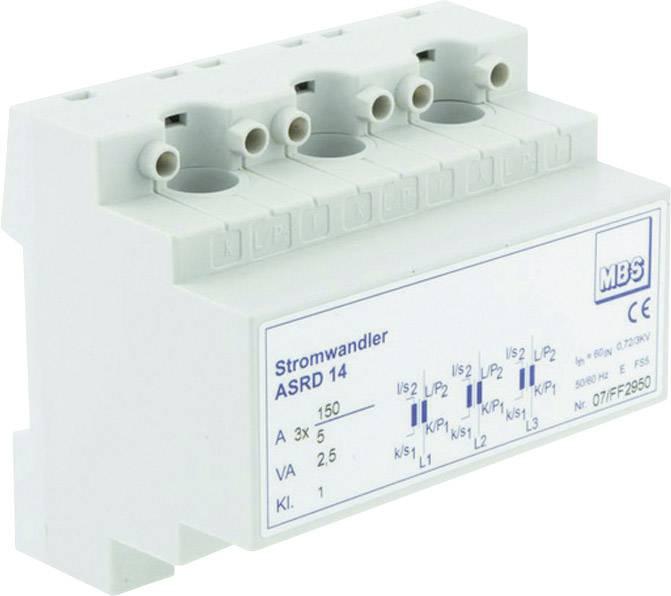 Násuvný měřicí transformátor proudu MBS ASRD 14 3X50/5A 1VA Kl.1